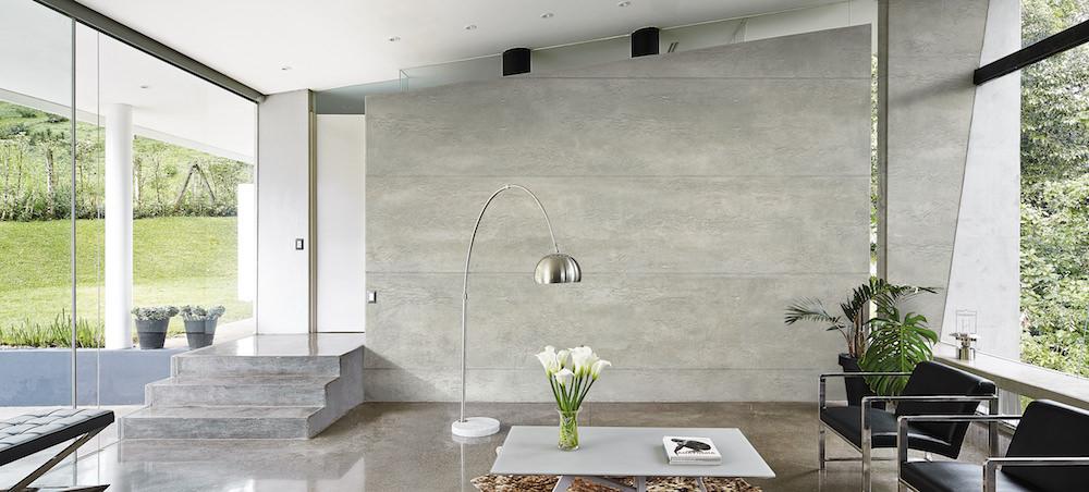 Wohndesign betonoptik schadstofffreie kalk marmor oberfl chen - Betonwand optik ...